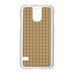Pattern Background Brown Lines Samsung Galaxy S5 Case (white) by Simbadda
