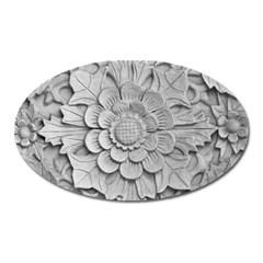 Pattern Motif Decor Oval Magnet by Simbadda