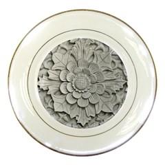 Pattern Motif Decor Porcelain Plates by Simbadda