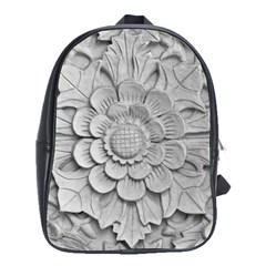 Pattern Motif Decor School Bags(large)  by Simbadda