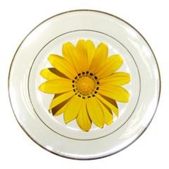 Transparent Flower Summer Yellow Porcelain Plates by Simbadda