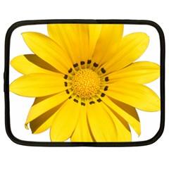 Transparent Flower Summer Yellow Netbook Case (large) by Simbadda