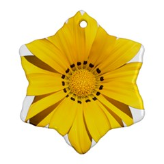 Transparent Flower Summer Yellow Ornament (snowflake) by Simbadda