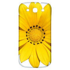Transparent Flower Summer Yellow Samsung Galaxy S3 S Iii Classic Hardshell Back Case by Simbadda