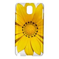 Transparent Flower Summer Yellow Samsung Galaxy Note 3 N9005 Hardshell Case by Simbadda