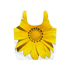 Transparent Flower Summer Yellow Full Print Recycle Bags (s)  by Simbadda
