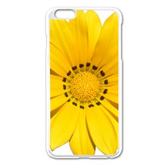 Transparent Flower Summer Yellow Apple Iphone 6 Plus/6s Plus Enamel White Case by Simbadda