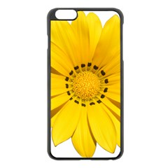 Transparent Flower Summer Yellow Apple Iphone 6 Plus/6s Plus Black Enamel Case by Simbadda