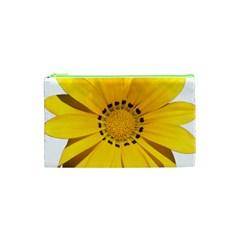 Transparent Flower Summer Yellow Cosmetic Bag (xs) by Simbadda
