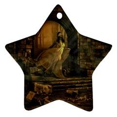 Woman Lost Model Alone Ornament (star) by Simbadda