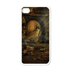 Woman Lost Model Alone Apple iPhone 4 Case (White)