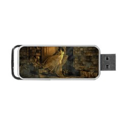 Woman Lost Model Alone Portable Usb Flash (two Sides) by Simbadda