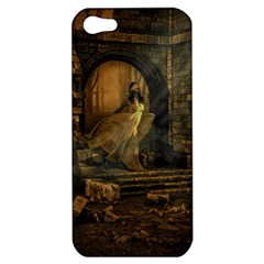 Woman Lost Model Alone Apple Iphone 5 Hardshell Case by Simbadda