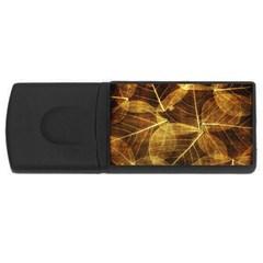 Leaves Autumn Texture Brown Usb Flash Drive Rectangular (4 Gb) by Simbadda