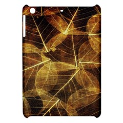 Leaves Autumn Texture Brown Apple Ipad Mini Hardshell Case by Simbadda
