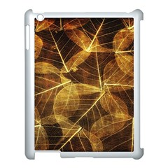 Leaves Autumn Texture Brown Apple Ipad 3/4 Case (white) by Simbadda