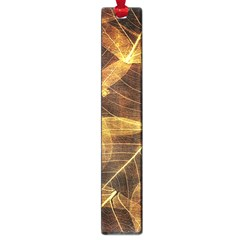 Leaves Autumn Texture Brown Large Book Marks by Simbadda