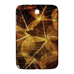 Leaves Autumn Texture Brown Samsung Galaxy Note 8 0 N5100 Hardshell Case  by Simbadda