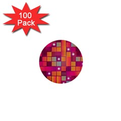 Abstract Background Colorful 1  Mini Buttons (100 Pack)  by Onesevenart
