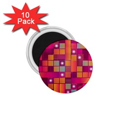 Abstract Background Colorful 1 75  Magnets (10 Pack)  by Onesevenart