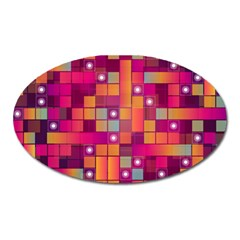Abstract Background Colorful Oval Magnet by Onesevenart