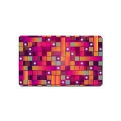 Abstract Background Colorful Magnet (name Card) by Onesevenart