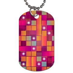 Abstract Background Colorful Dog Tag (two Sides) by Onesevenart