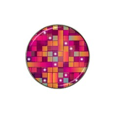 Abstract Background Colorful Hat Clip Ball Marker (4 Pack) by Onesevenart