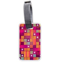 Abstract Background Colorful Luggage Tags (one Side)  by Onesevenart