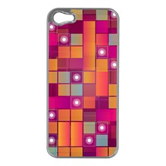 Abstract Background Colorful Apple Iphone 5 Case (silver) by Onesevenart