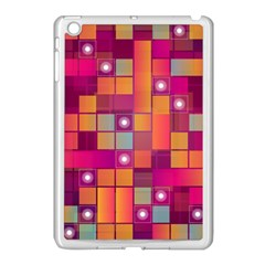 Abstract Background Colorful Apple Ipad Mini Case (white) by Onesevenart