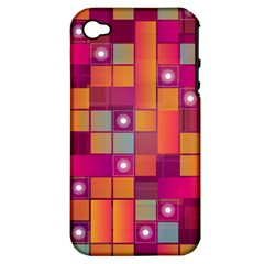 Abstract Background Colorful Apple Iphone 4/4s Hardshell Case (pc+silicone) by Onesevenart