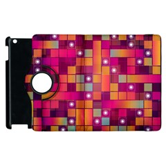 Abstract Background Colorful Apple Ipad 3/4 Flip 360 Case by Onesevenart
