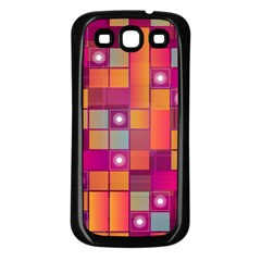 Abstract Background Colorful Samsung Galaxy S3 Back Case (black) by Onesevenart