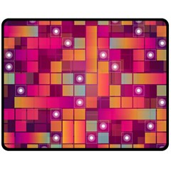 Abstract Background Colorful Double Sided Fleece Blanket (medium)  by Onesevenart