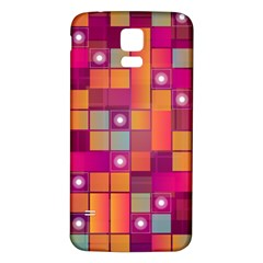 Abstract Background Colorful Samsung Galaxy S5 Back Case (white) by Onesevenart