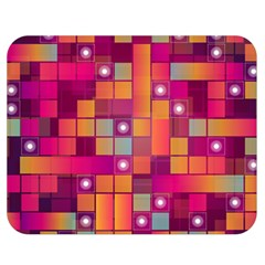 Abstract Background Colorful Double Sided Flano Blanket (medium)  by Onesevenart