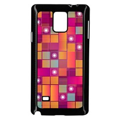 Abstract Background Colorful Samsung Galaxy Note 4 Case (black) by Onesevenart