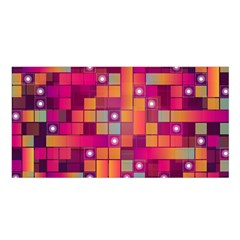 Abstract Background Colorful Satin Shawl by Onesevenart