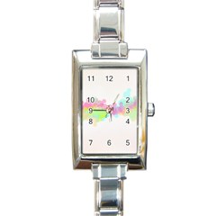 Abstract Color Pattern Colorful Rectangle Italian Charm Watch by Onesevenart