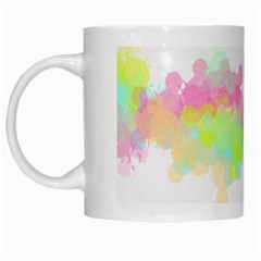 Abstract Color Pattern Colorful White Mugs by Onesevenart