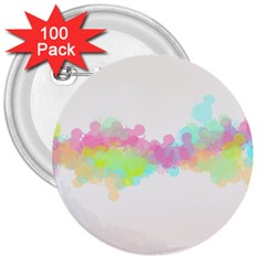 Abstract Color Pattern Colorful 3  Buttons (100 Pack)  by Onesevenart