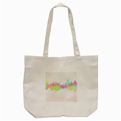 Abstract Color Pattern Colorful Tote Bag (cream) by Onesevenart