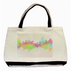 Abstract Color Pattern Colorful Basic Tote Bag by Onesevenart