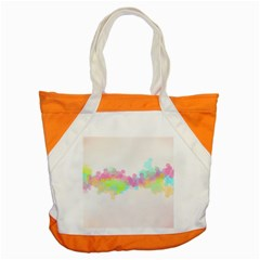 Abstract Color Pattern Colorful Accent Tote Bag by Onesevenart