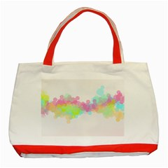 Abstract Color Pattern Colorful Classic Tote Bag (red) by Onesevenart