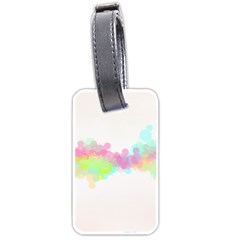 Abstract Color Pattern Colorful Luggage Tags (one Side)  by Onesevenart