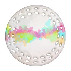 Abstract Color Pattern Colorful Round Filigree Ornament (two Sides) by Onesevenart