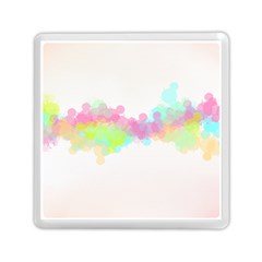 Abstract Color Pattern Colorful Memory Card Reader (square)  by Onesevenart