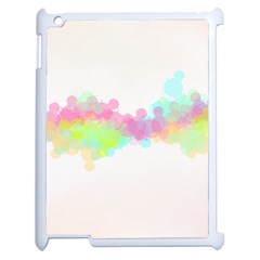 Abstract Color Pattern Colorful Apple Ipad 2 Case (white) by Onesevenart